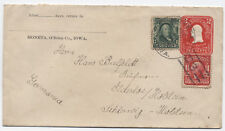1906 Moneta Iowa Doane Cancel (2nd reported) on cover to Germany [3412]