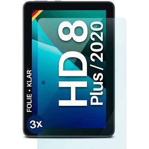 3x Screen Protector Fire HD 8 (2020)/ Plus Screen Foil Clear Matt 4H - No Glass