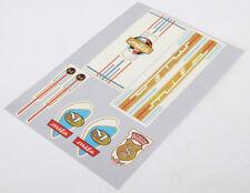 MIFA Décalques Sticker Gold Décor 7 Pièces Set 60er Ans RDA Klapprad Autocollant