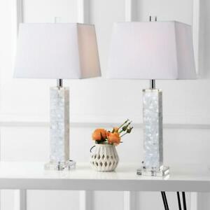 Noelle 28.5 in. White Seashell Table Lamp (Set of 2) by JONATHAN Y