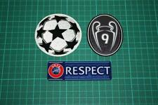 UEFA CHAMPIONS LEAGUE, RESPECT and 9 TIMES TROPHY BADGES 2013-2014