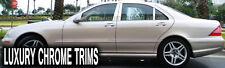 Mercedes S Class W220 Stainless Steel Chrome Pillars Posts by LT 2000-2006 (6pc)