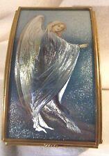 Guardian Angel Mirrored Trinket Treasure Box Hand Crafted Brass & Glass Pretty