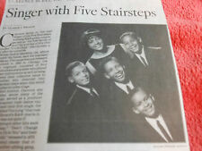 1949-2013 CLARENCE BURKE OBITUARY SINGER WITH FIVE STAIRSTEPS