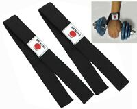 Gym Straps Hand Bar Weight Lifting Strap Training Wrist Support Gloves Wrap PAIR