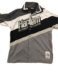 Vintage XL Fubu Harlem Globetrotters Warm Up Jacket Gray #27 75th Anniversary