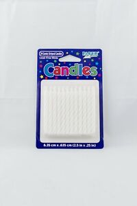 Pack of 24 Candy Striped White Candles