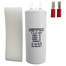 Condensateur 4 uF (4 µF) pour moteur Somfy, Simu, M4 Group, Asa de store volet