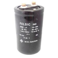 Condensatore elettrolitico FELSIC 47000uF 40Vcc 13 A 110x65 mm