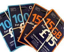 O2 SIM CARDS *15GB*  OFFICIAL LICENSED O2 DISTRIBUTOR