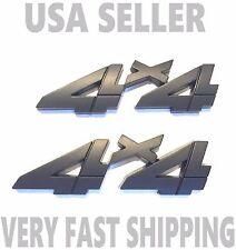 X2 Black 4 X 4 Smoked EMBLEM 3D Truck WESTERN STAR PETERBILT Logo Decal SIGN 1.2