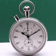 1960's BREITLING RATTRAPANTE CHRONOGRAPH REF 612 SPLIT SECOND POCKET WATCH 65mm