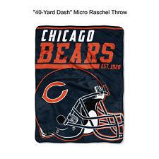 "NFL Chicago Bears 40-Yard Dash Micro Raschel Throw Blanket 40"" x 60"""