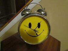 STERLING NOBLE 2003 YELLOW SMILEY ALARM CLOCK RARE BON JOVI HANGING STANDING