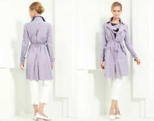 NWT Armani Collezioni Lilac Lavender Trench Rain Coat Waterproof 52 Large