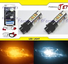 LED Switchback Light 2835 White Amber 3157 Two Bulbs Resistor F Turn Signal DRL