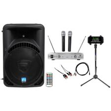 """Rockville Powered 15"""" iphone/ipad/Android/Laptop/T.V. Karaoke Machine/System"""