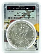 2011 W Burnished Silver Eagle PCGS SP69 - West Point Frame