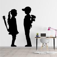 Banksy Boy Meets Girl Wall Decal Removable Sticker Vinyl Decor Art Transfer Fun