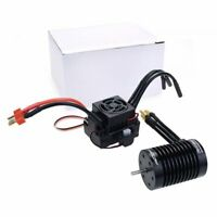 F540-V2 4370/3300KV Brushless Waterproof Motor 3.175mm+60A ESC For 1/10 RC Car