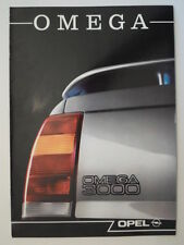 OPEL OMEGA 3000 orig 1989 French Mkt Sales Brochure Depliant + Specs - 3.0i 24V