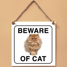 Persian cat Beware of cat Targa gatto cartello ceramic tiles