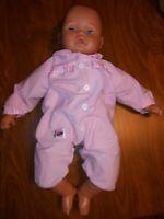 "Lissi Batz N-1053 NB 20"" Molded Hair Blue Eyed Life Size Vintage Doll"