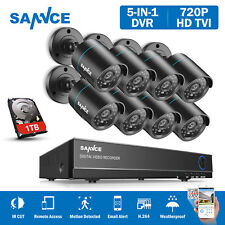 SANNCE 8CH 720P HDMI P2P HDDVR 8x1500TVL Outdoor CCTV Camera Security System APP