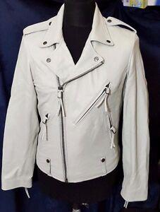 """NEW Bolougaro Trevor Ace Leather Jacket, Stone - L (42"""")"""