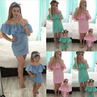 Mother And Daughter Dresses Party Matching Mom Baby Girls Dress Family Clothes