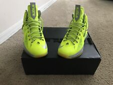 Nike Lebron X Mens Size 8.5 Volt Neon Yellow/Gray Basketball Shoes