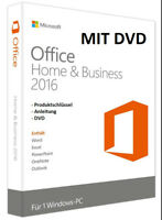 Office Home and Business 2016, Key, Neu + DVD Kostenlos (Vollversion)
