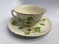 Vintage Pope Gosser China Made in USA Dogwood Cup & Saucer