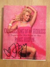 SIGNED - Paris Hilton Confessions Of An Heiress HC A Tongue-in-Chic Peek + Pic