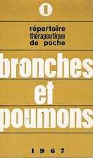 Repertoire therapeuthique de poche :Bronches Et Poumons   editions medicales ras