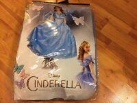NEW Disney Cinderella Princess DRESS SIZE LARGE Disguise Prestige Adult Costume