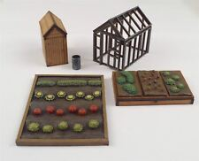 Allotment Garden Set OO/HO Gauge by WWS – Railway Model Modelling Shed Diorama