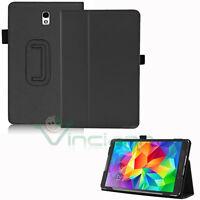Custodia eco pelle NERA Stand per Samsung Galaxy Tab S 8.4 T705 cover book