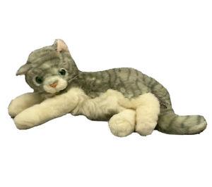 """Vtg Russ Horace Gray Cat/Kitten Plush Stuffed Animal Item #6476 18"""""""