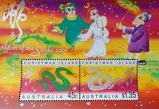 *FREE SHIP Australia Year Of The Snake 2001 Chinese Zodiac Lunar White (ms) MNH