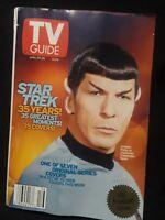 35th Anniversary TV Guide STAR TREK cover Leonard Nemoy as SPOCK *Apr 20-26 2002