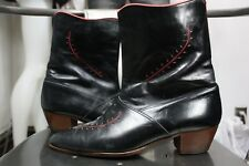 vintage Foti leather boots 10 D black 70's made in Italy ankle