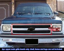Fits 91-92 Chevy S10 Pickup/91-93 S-10 Blazer Black Billet Grille Insert