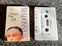 MADONNA WHO'S THAT GIRL CASSETTE AUDIO SINGLE TAPE VGC FOR AGE