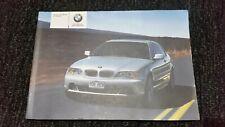 BMW 3-Series E46 Coupe Original Owner Manual Handbook 01410159507 En