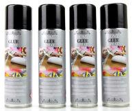 Lot 4 Colle Spray Pour Maquettes Papier Carton Bois Textile 4x300 ml