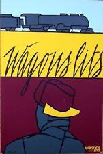 Original Vintage Poster - ADAMI  'Wagon Lits' 1980s - Train Watcher