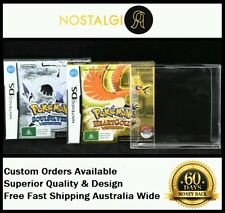 2× BOX PROTECTOR FIT POKEMON HEARTGOLD SOULSILVER / HIGH QUALITY / EXTRA THICK