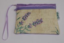 Ekard heather lavender Embroidered Credit Card Holder Coin Purse Pouch Zipped 09
