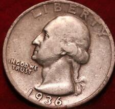 1936-S San Francisco Mint Silver Washington Quarter